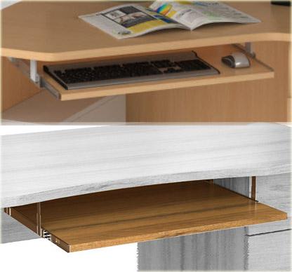 Компьютерные столы васко. полка выдвижная для клавиатуры пу .
